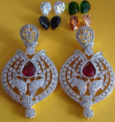 changeable-stones-american-diamond-earrings