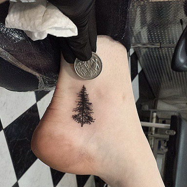 Christmas Tree Tattoo