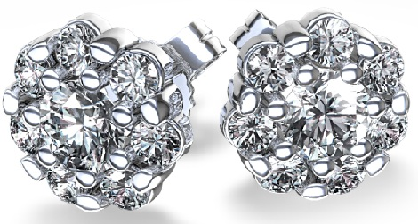 cluster-diamond-earrings
