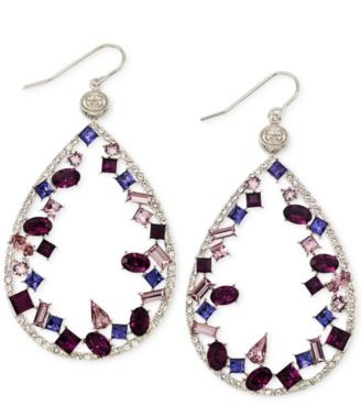 colourful-tear-drop-platinum-earrings