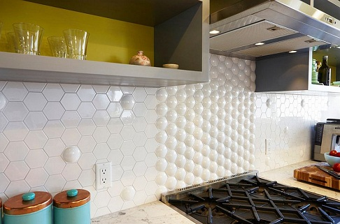 Creative Kitchen Tile Design