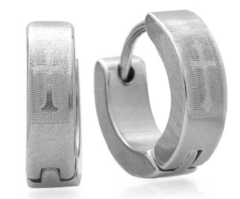 cross-shaped-hoop-platinum-earrings-for-men