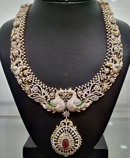 designer-peacock-diamond-necklaces