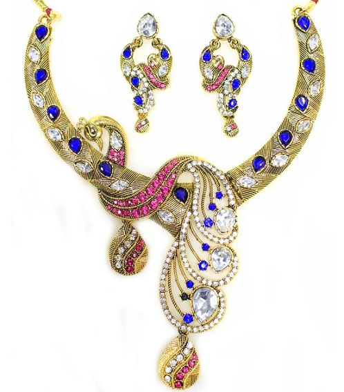 designer-peacock-shaped-necklace