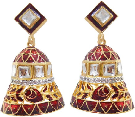 diamond-earrings-with-minakaari-work