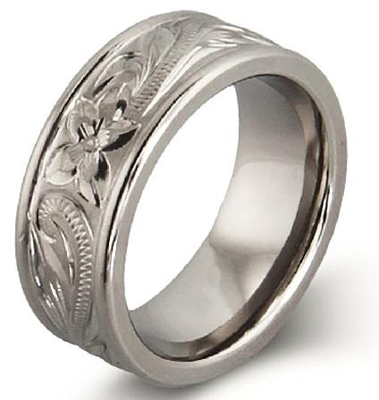 engraved-titanium-rings