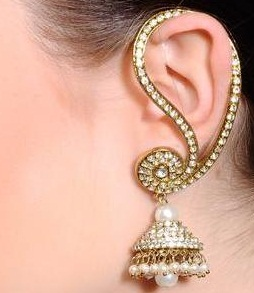 Full Ear Earrings With Pearls17