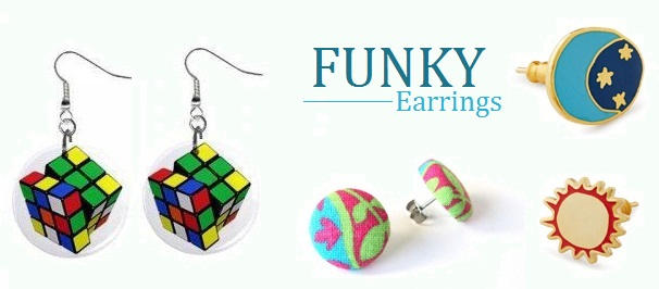 funky earrings