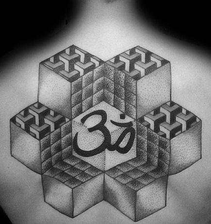 geometric-om-tattoo-design