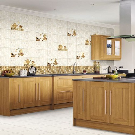 Glory Gold Design Kitchen Tile Images