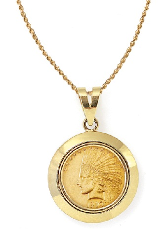 25 latest gold pendant designs for men and women gold coin pendant aloadofball Image collections