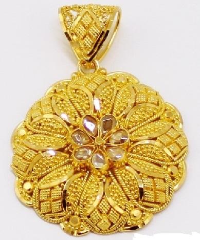 gold-geometric-flower-pendant