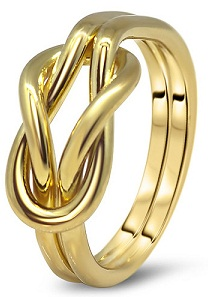 Gold Finger Rings Design For Female With Puzzle Design