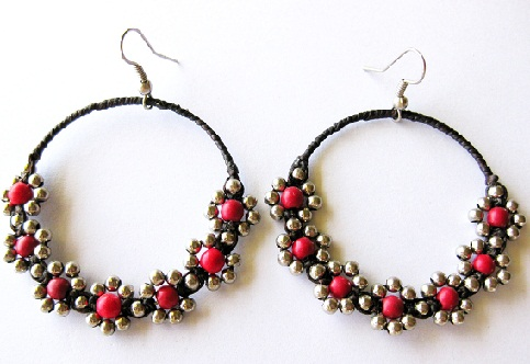 Handmade Beaded Hoops5