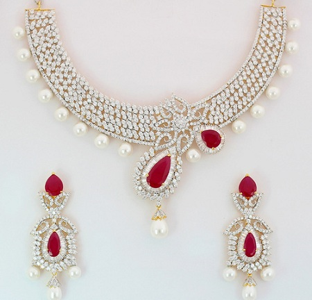heavy-american-diamond-necklace-in-ruby-and-pearls