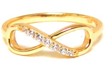 Ladies Gold Ring With Infinity Design