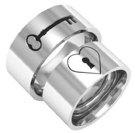 key-and-lock-silver-ring