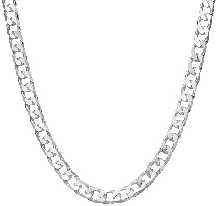 mens-silver-curb-necklace1