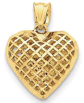 mesh-design-heart-pendant