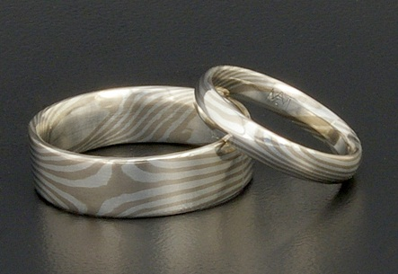 mokume-gane-titanium-rings