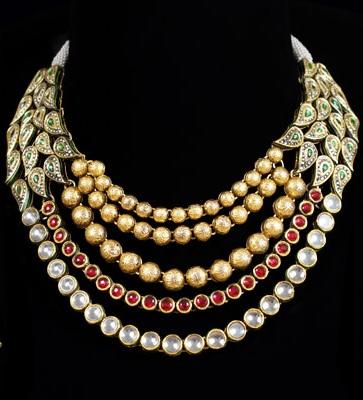 multilayers-designer-gold-kundan-and-ruby-necklace