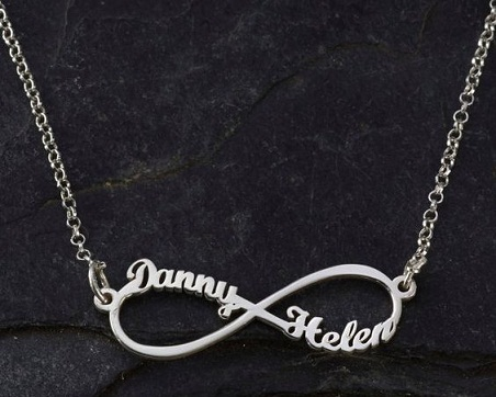 layer necklace baby il names chain children double name jewelry etsy personalized chains dainty market