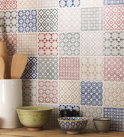 Patchwork Design Kitchen Tile