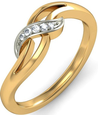 Beautiful Gold Ring With Platinum