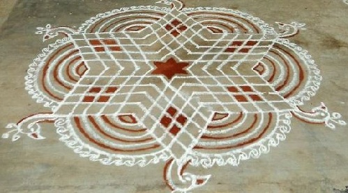 red-and-white-star-rangoli