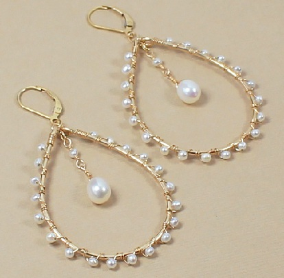 round-shaped-gold-and-pearl-earrings