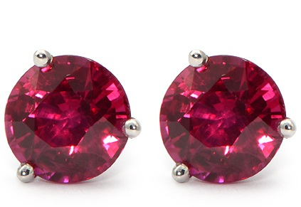 gemstoneking silver red round buy ruby stud now solid natural pin earrings ct sterling