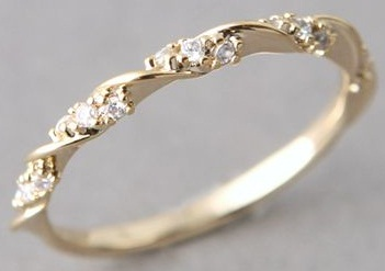 Gold Rings For Women Ribbon Gold Ring
