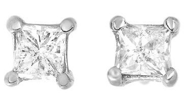 single-princess-cut-diamond-earrings