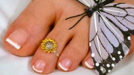 sunflower-toe-ring