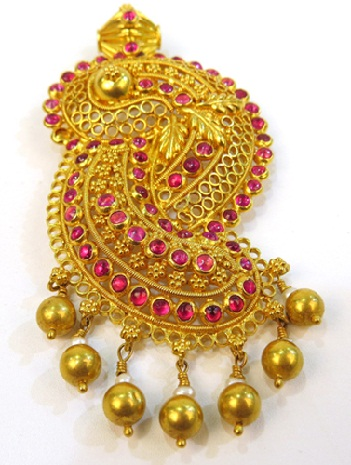 25 latest gold pendant designs for men and women temple design gold pendant aloadofball Images