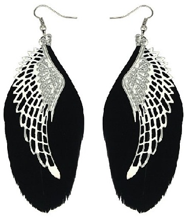 the black feather danglers
