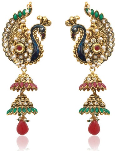 traditional-indian-style-peacock-jhumka-9