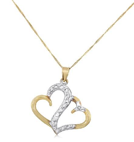 25 latest gold pendant designs for men and women twin heart pendant aloadofball Images