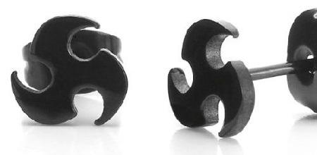 wheel-blade-design-earrings-for-men