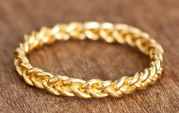 Braided Gold Ring Design