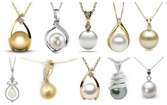 9 different types pearl pendant jewellery designs aloadofball Image collections