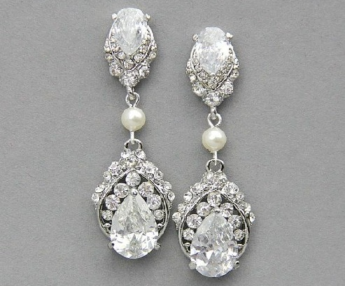 silver-bridal-earrings