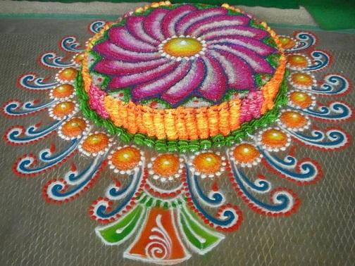 3- D Rangoli Designs