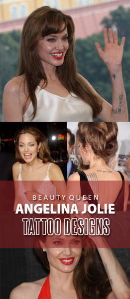 Angelina Jolie Tattoo Designs and Meanings