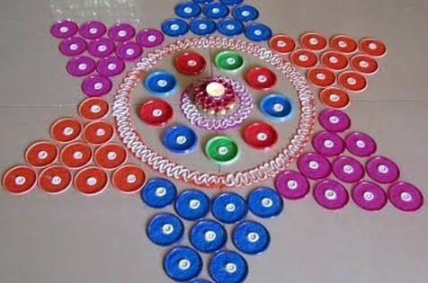 Bangle Rangoli Designs