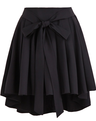 black-high-waist-skirt-with-bow