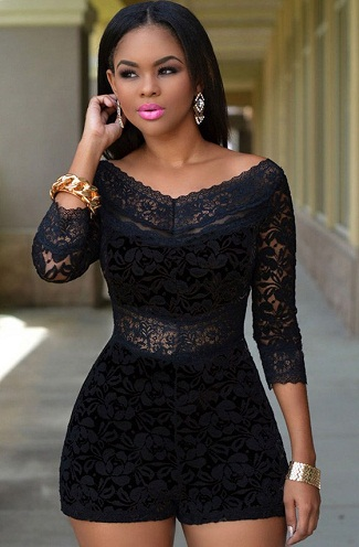 black-lace-short-jumpsuits