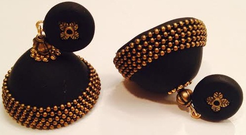 Black Jhumka Earring2