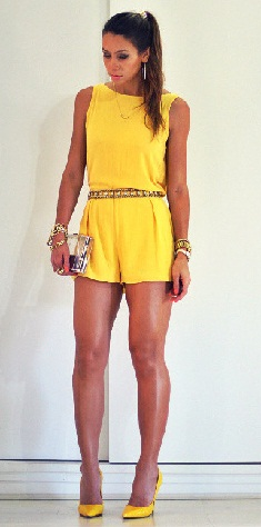 bright-yellow-short-jumpsuits