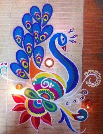classic-peacock-free-hand-rangoli-design10